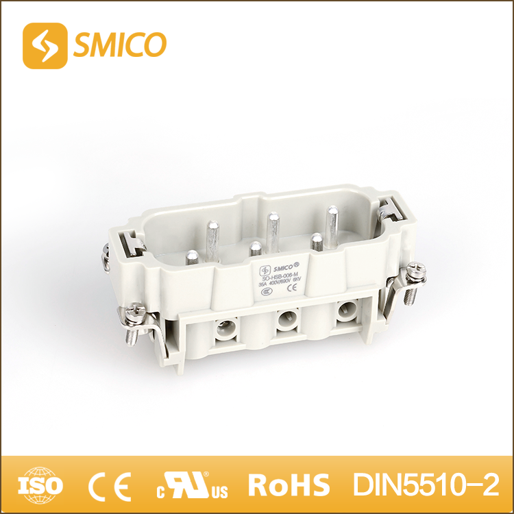 SMICO Polycarbonate Multi Pin Male 6 PIN Heavy Duty Connector With CE CCC UL Certificate