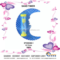 Sand clock in shape of moon-ST2003M-1