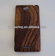 Wooden skin plastic case back cover for Sony Xperia C S39H