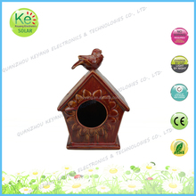 Ceramic Bird house Outdoor garden LED solar light