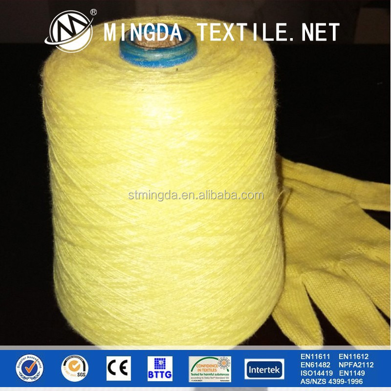 2015 high temperature resistance and cut resistance 1414 para-aramid / keclar knitting yarn for 100% kevlar gloves