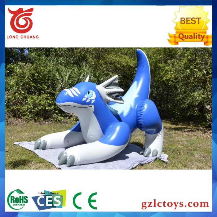 2016 Hot SellingPromotional PVC green inflatable sea dragon/inflatable zenith dragon for advertising