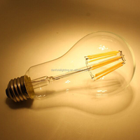 A21 A66 8W dimmable long neck LED filament bulb