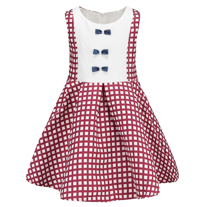 fashion patriotic cotton children girl casual wear dress