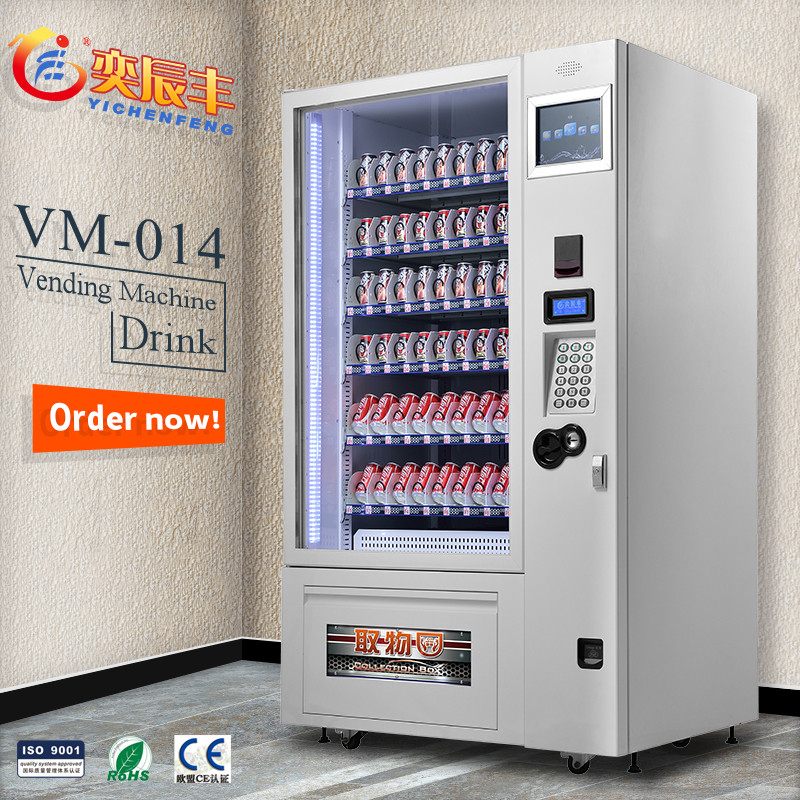 YCF-VM014vending machines snacks/refrigerated vending machines manufacturer price//automatic vending machine with LCD screen