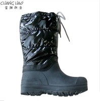 New Design Waterproof Snow Boot Manufacturer,Fashion Style Black Reflective Fabric With Shoelace Has Antiskid Sole For Women
