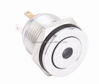 2016 NEW type HBGQ16PF-10D/J Hyperplane metal pushbutton with Dot illuminated switch