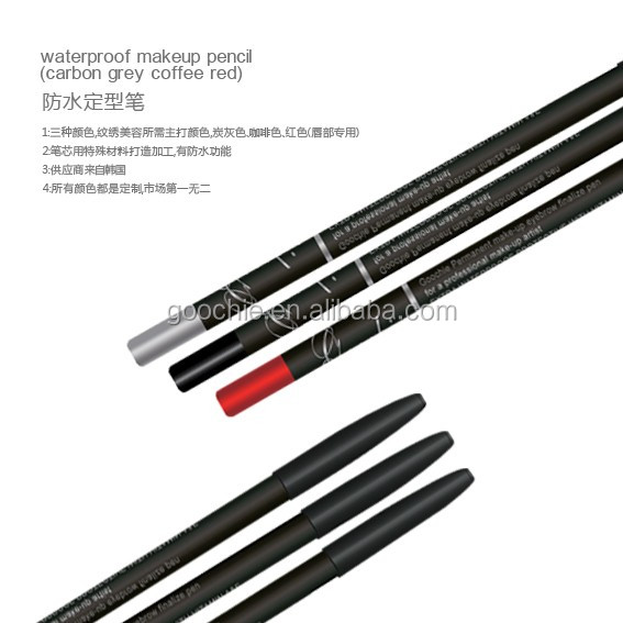 Waterproof Permanent Makeup Design Pencil For Eyebrow And Lip Shape
