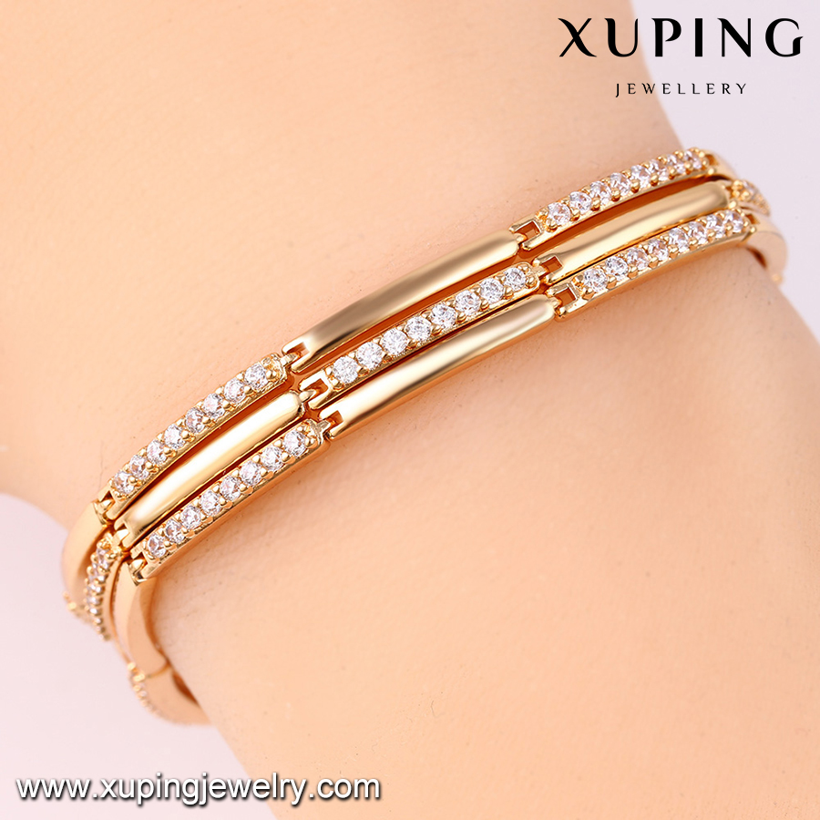 74622-Xuping Jewelry fashion brass bracelet bangles with gold plated