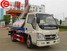 Chinese 2600mm wheelbase mini vacuum truck fecal suction truck with 2300L capacity