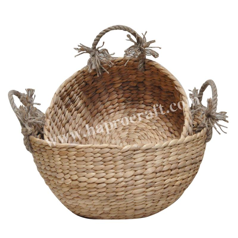 Straw storage basket with rope handles (HLB 1720/2)