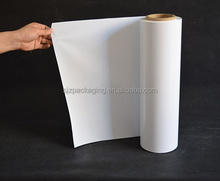 white opaque biaxially oriented polyester film with low opacity