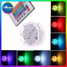 LED Wedding Decoration Waterproof Submersible LED Party Tea LED Light With Remote For Halloween Christmas Decor