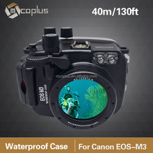 Mcoplus 40M/30ft Camera Waterproof Housing Case For Canon EOS-M3 22mm