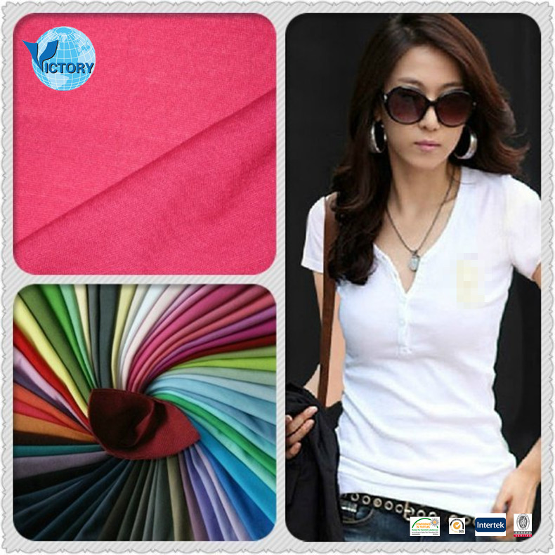 100% Cotton Knit Single Jersey Fabric Stocklot Wholesale for Garment,T-shirts,etc