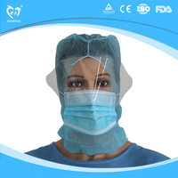 Head & Face Covers with eye shield splash resistance for hospital - Style 4
