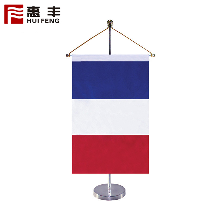 Pennants Wooden Pole And Stand Table Size National Flag