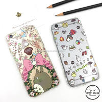 TPU PC Miyazaki Hayao animation patterns in emboss in bulk by express for iphone5 6 7 and Samsungnote3 4 5 6