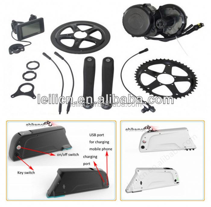 2014 newest 36v 250w/350w Middle driven Motor kits with battery Electric bike motor