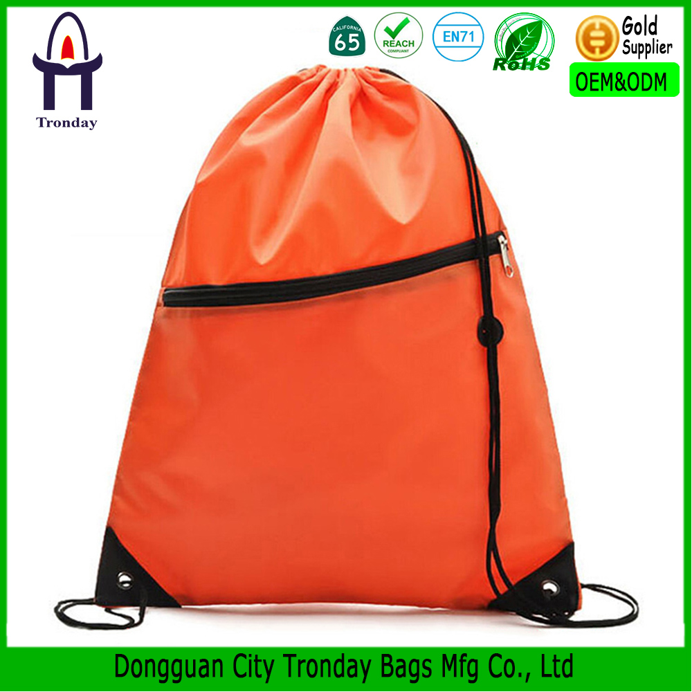 Customized material and printing drawstring backpack bag promotion bag