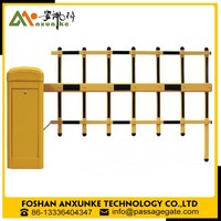 Auto parts barrier gate price full auto folding parking fence gate