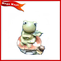 Garden resin big head cartoon frog figurine