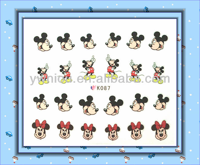 Cute Mouse Nail Stickers Tattoos Art Declas