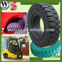 china quality industrial 16*6-8 Solid Tires for Forklift/solid polyurethane tire