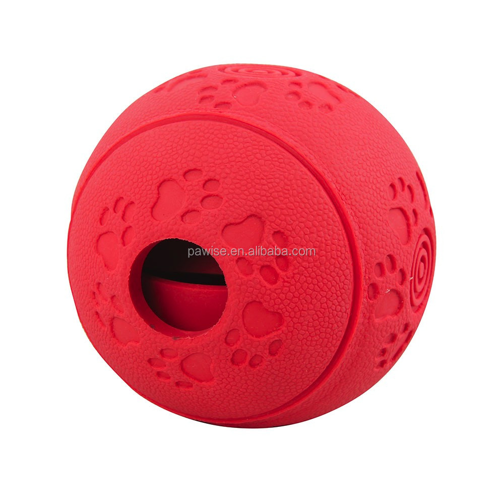 Rubber Treat Ball 11cm Dog toy food dispenser