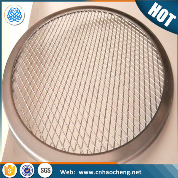 Factory price 12 inch diamond hole aluminum oven mesh tray/pizza screen