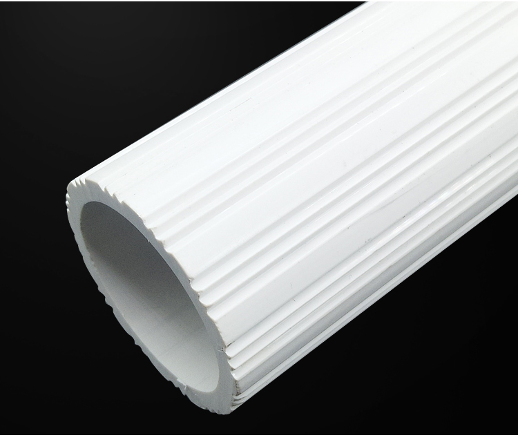 Wholesale customized white PVC pipe ABS roller plastic extrusion profile