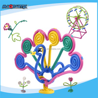 No.8365-320pcs Happy Christmas Kid Toy Intellectual Child Toy for Kids EVA Environmental Toys Plastic Magnetic Blocks Supplier