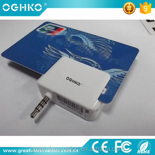 3.5mm audio jack mobile phone magnetic smart card reader for Andriod or iOS system