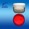 Long wave fluorescent pigment red