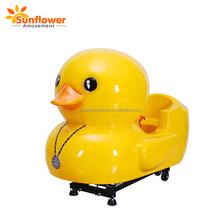 Yellow Duck coin operated animal amazing sport car kiddie ride for small kids
