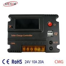 Auto Work Solar Charge Controller Backlight solar panel pv system battery regulator dual usb temperature compensation