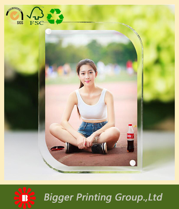 Factory custom 5x7 clear acrylic sheet photo frame/acrylic photofunia frame