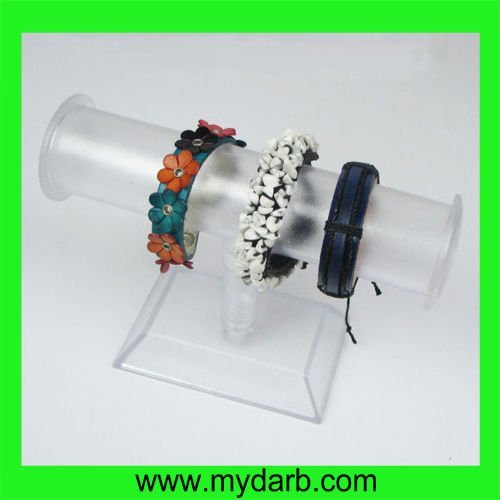 High end counter top clear acrylic jewelry display bar jewelry hanging tube