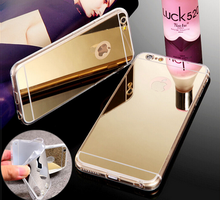 Top Selling Mobile Accessories Electroplating TPU Mirror Back Cover Case For iPhone 6 Case Mirror TPU Phone