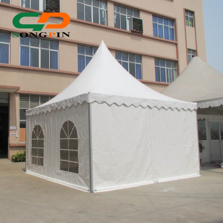 Easy Manul assembly 5m by 5m European Style Tents White Vinyl Fabric and High quality Aluminum Frame