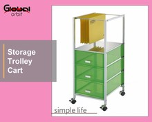 Rolling Office File Documents Holder With KD Drawer Organizer Trolley Cart