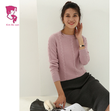 100% handmade knit women cashmere wool sweater popular in india