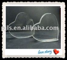 Personalized optical crystal heart cake topper