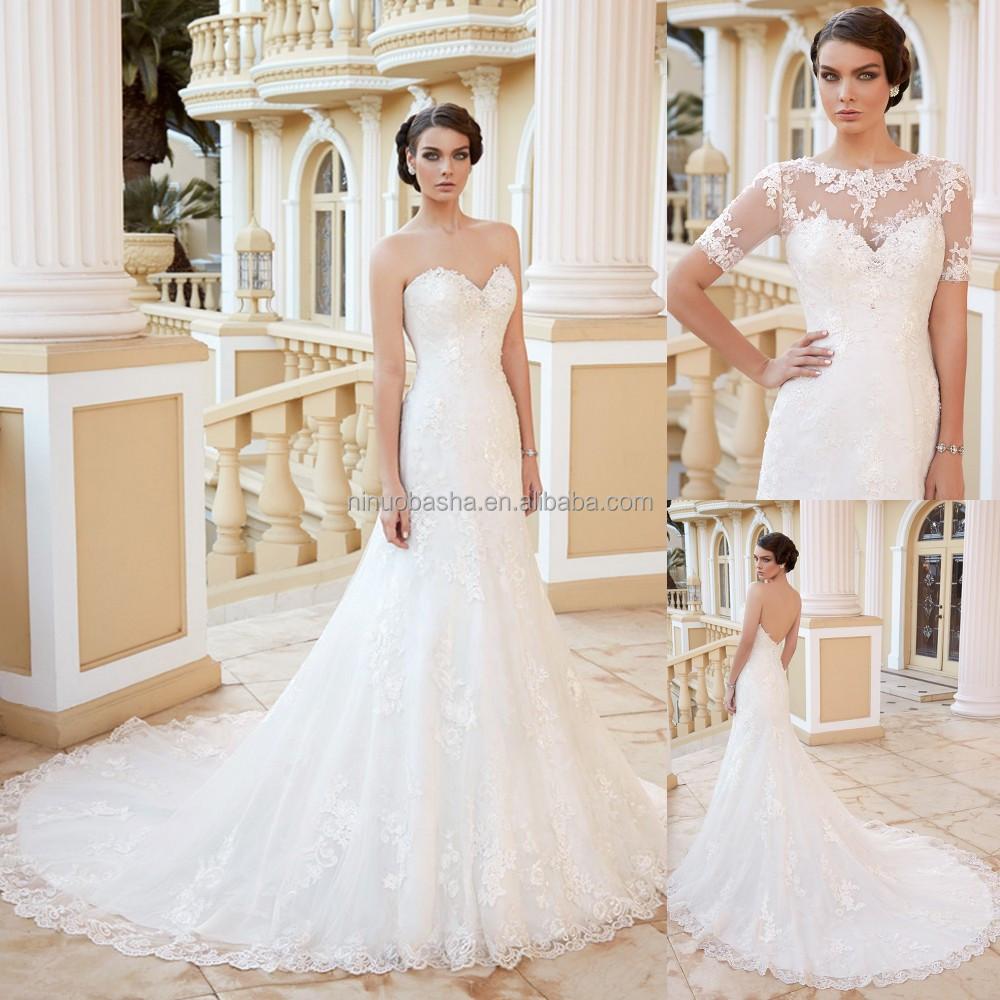 Wholesale wedding dress low back online buy best wedding for Low cut mermaid wedding dress