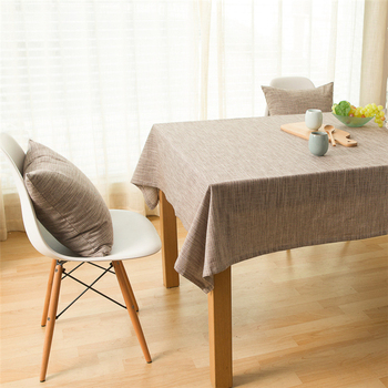 Country Rustic Style Multi-function Dustproof Linen Retro Cotton Linen Plain Color Dining Table Cloth 017