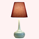 modern simple led resin vase table lamp for bedside room