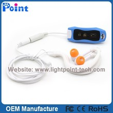 High Quality 4GB Swimming Waterproof MP3 Player With Mini Clip MP3 Player With FM Waterproof MP3