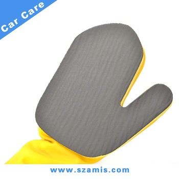 Newest Car Surface Fine Grade Clay System Long Sleeve Rubber Clay Bar Gloves