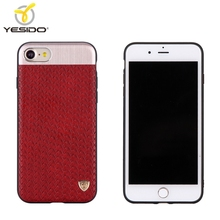 Top quality tpu pc pu weave pattern leather phone case comes with magnetic mobile three in one phone case for iphone 8 case