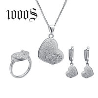925 Silver Heart Women Jewelry Sets, 2016 Jewelery Set Wholesale